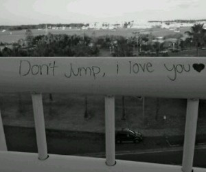 love, jump, and suicide image