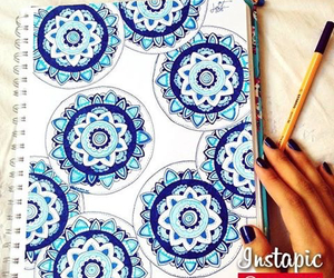 blue, draw, and bleue image