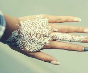 henna, white, and nails image