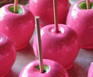pink, apple, and food image