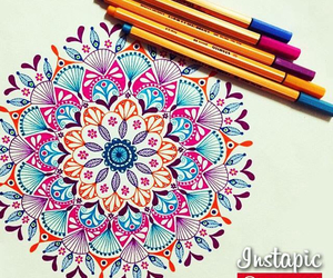 couleurs, draw, and mandala image