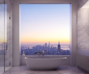 bathroom, city, and bath image