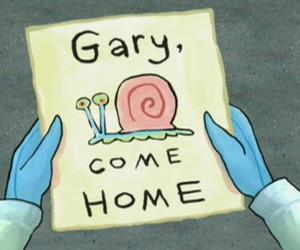 gary, spongebob, and cartoon image