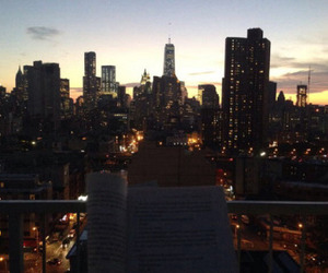 city, book, and light image