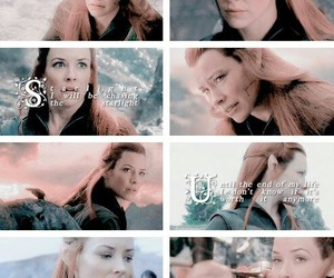 middle earth, tauriel, and the hobbit image