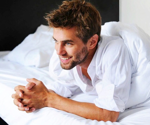 Hot, man, and bed image