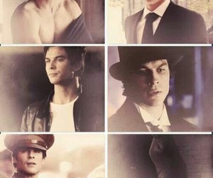 damon, salvatore, and Vampire Diaries image