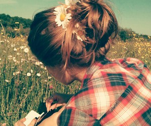 flowers, hair, and natural image