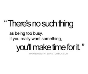quote, busy, and time image