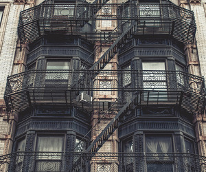 building and fire escape image