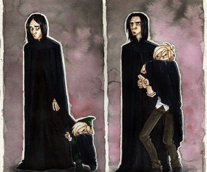 harry potter, severus snape, and draco malfoy image