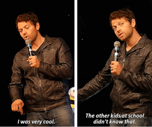supernatural, misha collins, and funny image