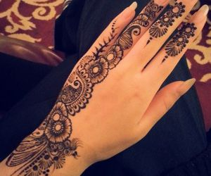 henna, beautiful, and design image