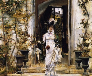 Giovanni Boldini, 1874, and berthe going for_a _walk image
