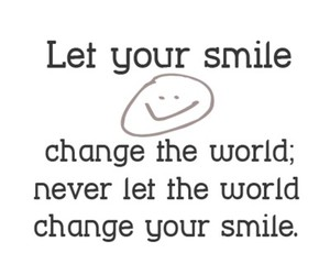 smile, black and white, and quote image