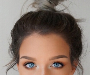 eyes, girl, and hair image