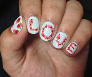 flower, style, and nails image
