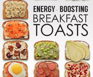 food, toast, and healthy image