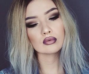 lips, girl, and make up image
