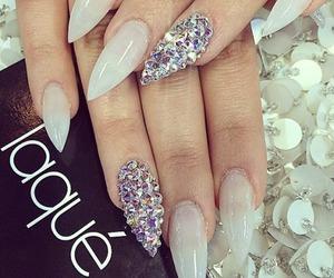 nails, fashion, and diamond image