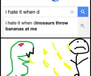 bananas, dino, and dinosaurs image