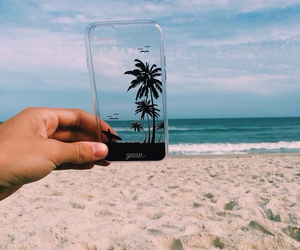 beach, summer, and iphone image