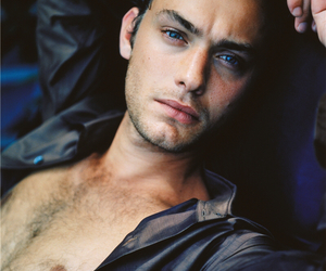 actor, jude law, and open shirt image
