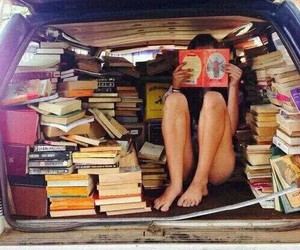 book, car, and reading image