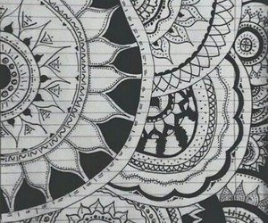 background, mandalas, and black&white image