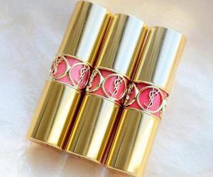 lipstick, pink, and YSL image