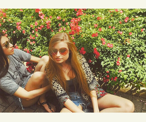 flowers, hippie, and sunglasses image