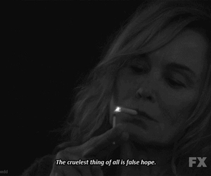 american horror story, quote, and black and white image