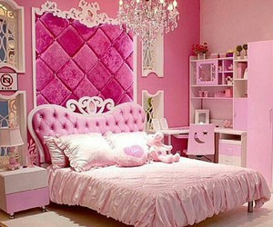 pink, room, and princess image