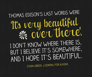 quote, john green, and looking for alaska image
