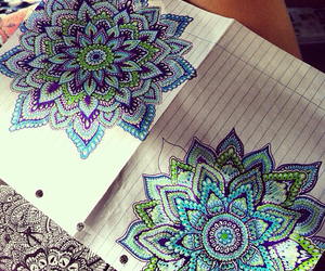 art, drawing, and mandala image