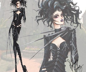 tim burton, art, and edward scissorhands image
