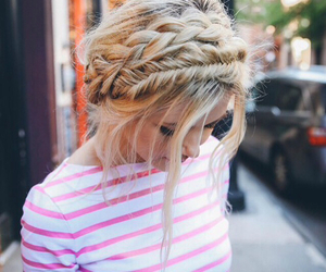 pretty, blonde, and hair image
