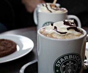 starbucks, coffee, and chocolate image