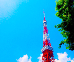 japan, tokyo, and tokyotower image