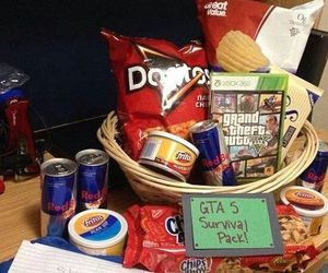 birthday, gift, and care package image