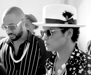black and white, rock in rio, and bruno mars image