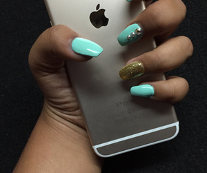 nails, iphone, and tumblr image
