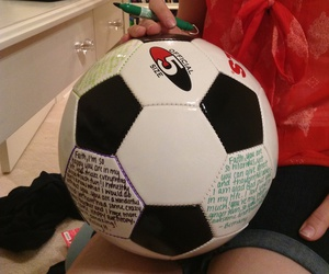 diy, gifts for him, and soccer ball gift image