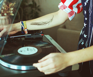 tattoo, music, and feather image