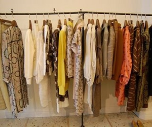 dresses, hangers, and white image