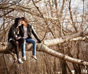 kiss, tree, and cute image