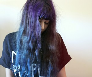 dyed hair and purple hair image