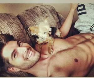Hot, boy, and dog image