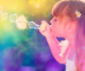 girl, cute, and bubbles image