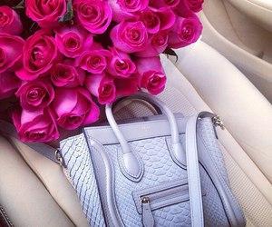 rose, bag, and fashion image